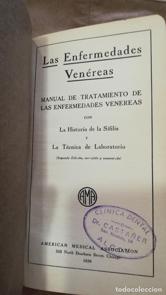 Libros antiguos: Historia de la Sífilis y Tratamiento de las Enfermedades Venéreas 1920 - Foto 3 - 227146725