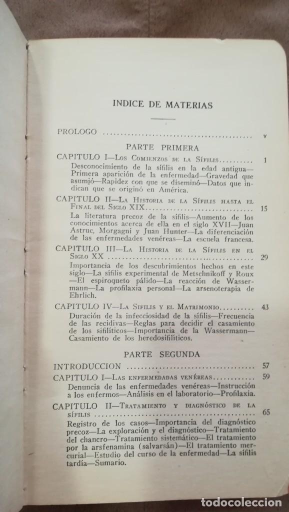 Libros antiguos: Historia de la Sífilis y Tratamiento de las Enfermedades Venéreas 1920 - Foto 4 - 227146725