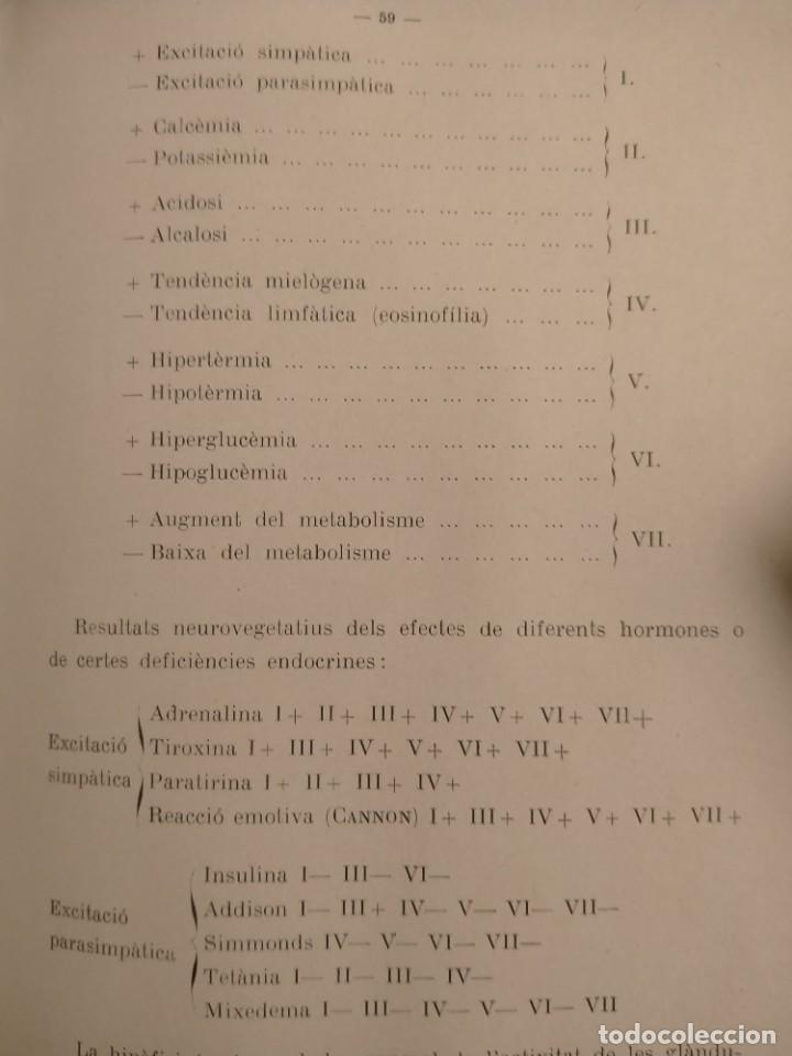 Libros antiguos: PI I SUNYER - LEQUILIBRI NEUROVEGETATIU - 1936 - CIENCIA - MONOGRAFIES MÉDIQUES - ÚNIC - Foto 4 - 227262785