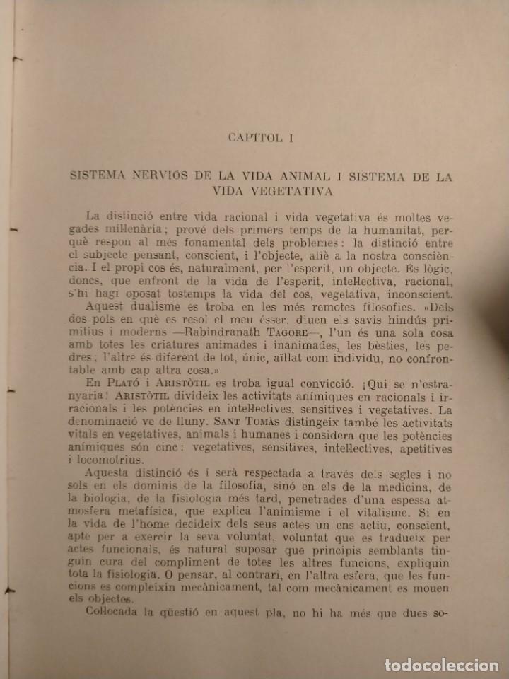 Libros antiguos: PI I SUNYER - LEQUILIBRI NEUROVEGETATIU - 1936 - CIENCIA - MONOGRAFIES MÉDIQUES - ÚNIC - Foto 6 - 227262785