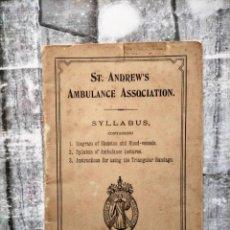 Libros antiguos: CRUZ ROJA 1896 ASOCIACIÓN AMBULANCIA INGLES. Lote 228153125