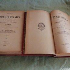 Libros antiguos: TRATADO DE CIRUGÍA CLÍNICA. Lote 228593090