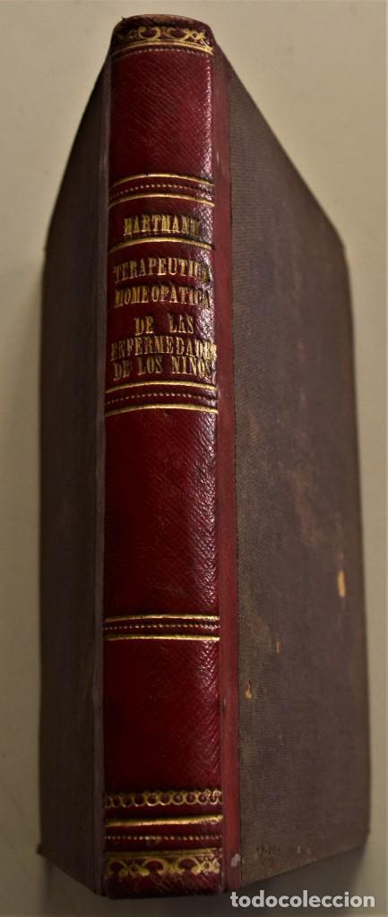 TERAPEUTICA HOMEOPATICA DE LAS ENFERMEDADES DE LOS NIÑOS - F. HARTMANN - MADRID 1853 (Libros Antiguos, Raros y Curiosos - Ciencias, Manuales y Oficios - Medicina, Farmacia y Salud)