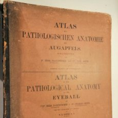 Libros antiguos: ATLAS OF THE PATHOLOGICAL ANATOMY OF THE EYEBALL...HERMANN PAGENSTECHER & CARL GENTH 1875 1ªED.. Lote 230079785