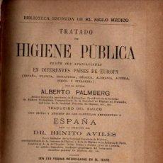 Libros antiguos: PALMBERG : TRATADO DE HIGIENE PÚBLICA EN DIFERENTES PAÍSES DE EUROPA (1892). Lote 231061645