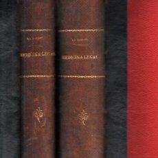 Libros antiguos: TAYLOR / LUIS MARCO : TRATADO DE MEDICINA LEGAL - DOS TOMOS (1890). Lote 231062725