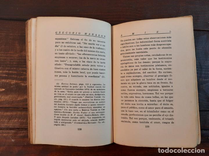 Libros antiguos: AMIEL, UN ESTUDIO SOBRE LA TIMIDEZ - GREGORIO MARAÑON - ESPASA-CALPE, 1932, 1ª EDICION - Foto 7 - 231299595
