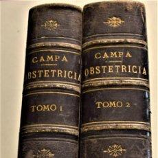 Libros antiguos: TRATADO COMPLETO DE OBSTETRICIA - F. DE P. CAMPÁ - EN DOS TOMOS COMPLETA - VALENCIA 1885. Lote 231857740