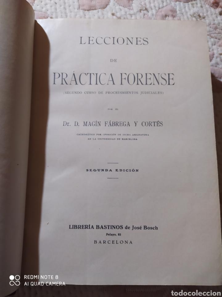 Libros antiguos: LECCIONES DE PRÁCTICA FORENSE. 1921. DR. MAGÍN FÁBREGA. - Foto 4 - 232324075