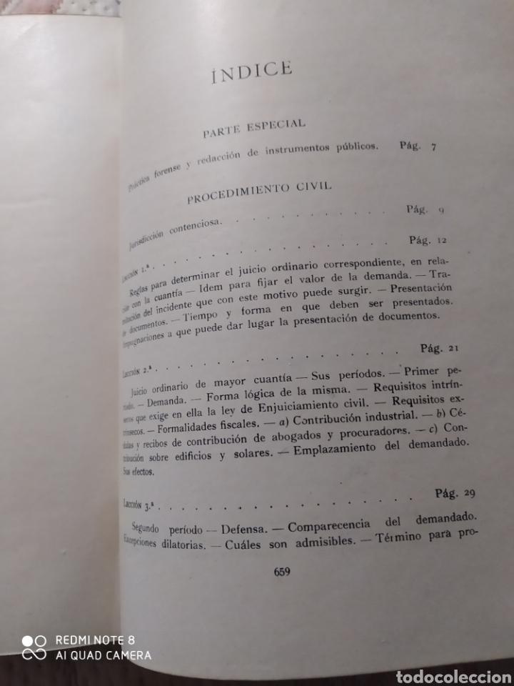 Libros antiguos: LECCIONES DE PRÁCTICA FORENSE. 1921. DR. MAGÍN FÁBREGA. - Foto 7 - 232324075