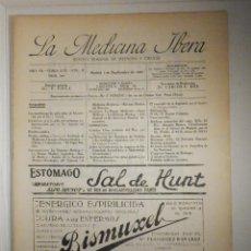Libros antiguos: LA MEDICINA ÍBERA, REVISTA, AÑOS 20´S, Nº 304 SEPTIEMBRE 1923, SÍNDROME EXTRAPIRAMIDAL, VER SUMARIO. Lote 233762420