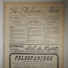 Libros antiguos: LA MEDICINA ÍBERA, REVISTA, AÑOS 20´S, Nº 305 SEPTIEMBRE 1923, BISMUTO EN SÍFILIS, VER SUMARIO. Lote 233764005