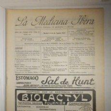 Libros antiguos: LA MEDICINA ÍBERA, REVISTA, AÑOS 20´S, Nº 303 AGOSTO 1923, DISENTERÍA AMIBIANA, VER SUMARIO. Lote 233764650
