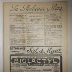 Libros antiguos: LA MEDICINA ÍBERA, REVISTA, AÑOS 20´S, Nº 297 JULIO 1923, VACULARIZACIÓN RENAL, VER SUMARIO. Lote 233764895