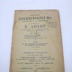 Libros antiguos: CATÁLOGO MEDICINA PRODUCTOS PARA ESTERELIZAR E. ADNET EN FRANCÉS 1898. Lote 235032070