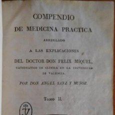 Libros antiguos: COMPENDIO DE MEDICINA PRÁCTICA. VALENCIA, 1811. Lote 235239230