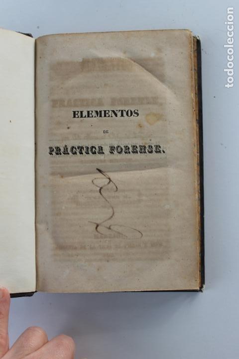 Libros antiguos: ELEMENTOS DE PRACTICA FORENSE POR MANUEL ORTIZ DE ZUÑIGA, 1843 MADRID - Foto 3 - 238548370