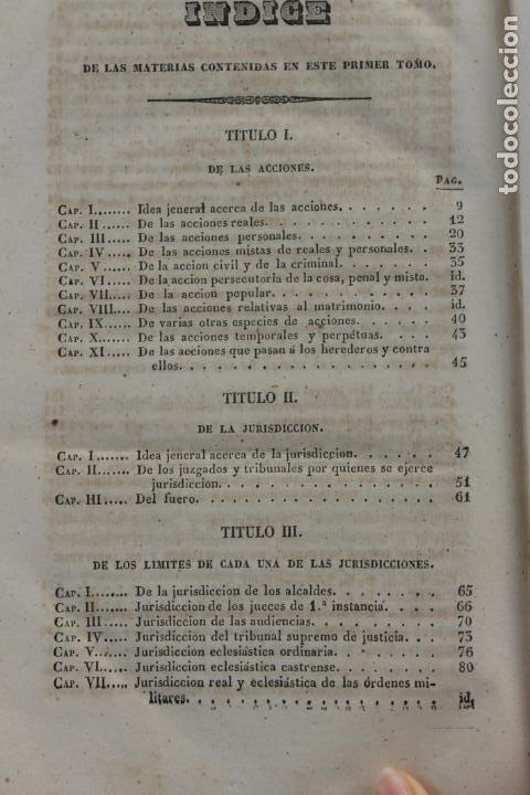 Libros antiguos: ELEMENTOS DE PRACTICA FORENSE POR MANUEL ORTIZ DE ZUÑIGA, 1843 MADRID - Foto 6 - 238548370