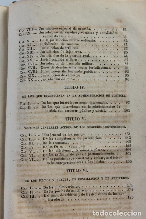 Libros antiguos: ELEMENTOS DE PRACTICA FORENSE POR MANUEL ORTIZ DE ZUÑIGA, 1843 MADRID - Foto 7 - 238548370