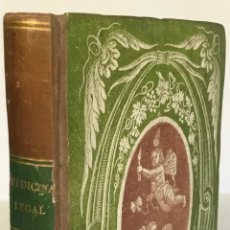 Libros antiguos: MANUAL DE MEDICINA LEGAL Y FORENSE. PARA EL USO DE LOS JUECES, ABOGADOS, PROMOTORES FISCALES.... Lote 239362250