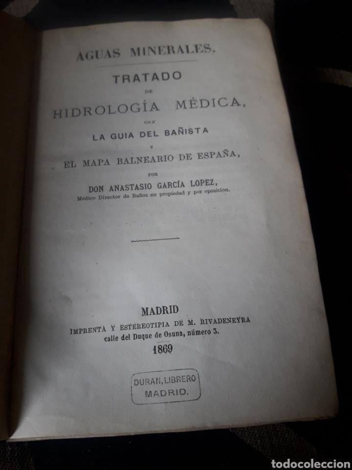 AGUAS MINERALES, TRATADO DE HIDROLÓGIA MÉDICA, DE 1869 (Libros Antiguos, Raros y Curiosos - Ciencias, Manuales y Oficios - Medicina, Farmacia y Salud)