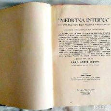 Libros antiguos: 1935 - CECONI: MEDICINA INTERNA. Lote 240073375