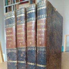 Libros antiguos: OBRA COMPLETA. MEDICINA LEGAL DE ORFILA 1847-49. PRECIOSA ENCUADERNACIÓN EN PLENA PIEL. VER FOTOS.. Lote 241026190