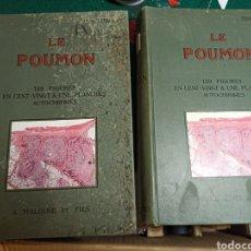 Libros antiguos: LE POUMON. TOMO I Y II MAURICE LETULLE. 1924. CON ILUSTRACIONES. VER FOTOS. Lote 242071510