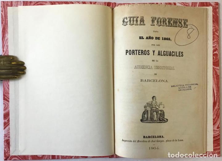 GUIA FORENSE PARA EL AÑO DE 1865, POR LOS PORTEROS Y ALGUACILES DE LA AUDIENCIA TERRITORIAL DE... (Libros Antiguos, Raros y Curiosos - Ciencias, Manuales y Oficios - Medicina, Farmacia y Salud)