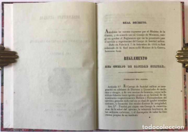 Libros antiguos: REGLAMENTO GENERAL PARA EL GOBIERNO Y REGIMEN FACULTATIVO DEL CUERPO DE SANIDAD MILITAR DEL EJÉRCITO - Foto 2 - 243550030