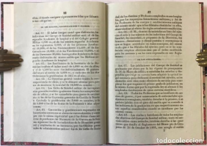 Libros antiguos: REGLAMENTO GENERAL PARA EL GOBIERNO Y REGIMEN FACULTATIVO DEL CUERPO DE SANIDAD MILITAR DEL EJÉRCITO - Foto 3 - 243550030