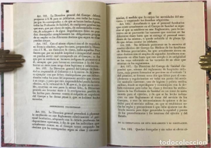 Libros antiguos: REGLAMENTO GENERAL PARA EL GOBIERNO Y REGIMEN FACULTATIVO DEL CUERPO DE SANIDAD MILITAR DEL EJÉRCITO - Foto 4 - 243550030