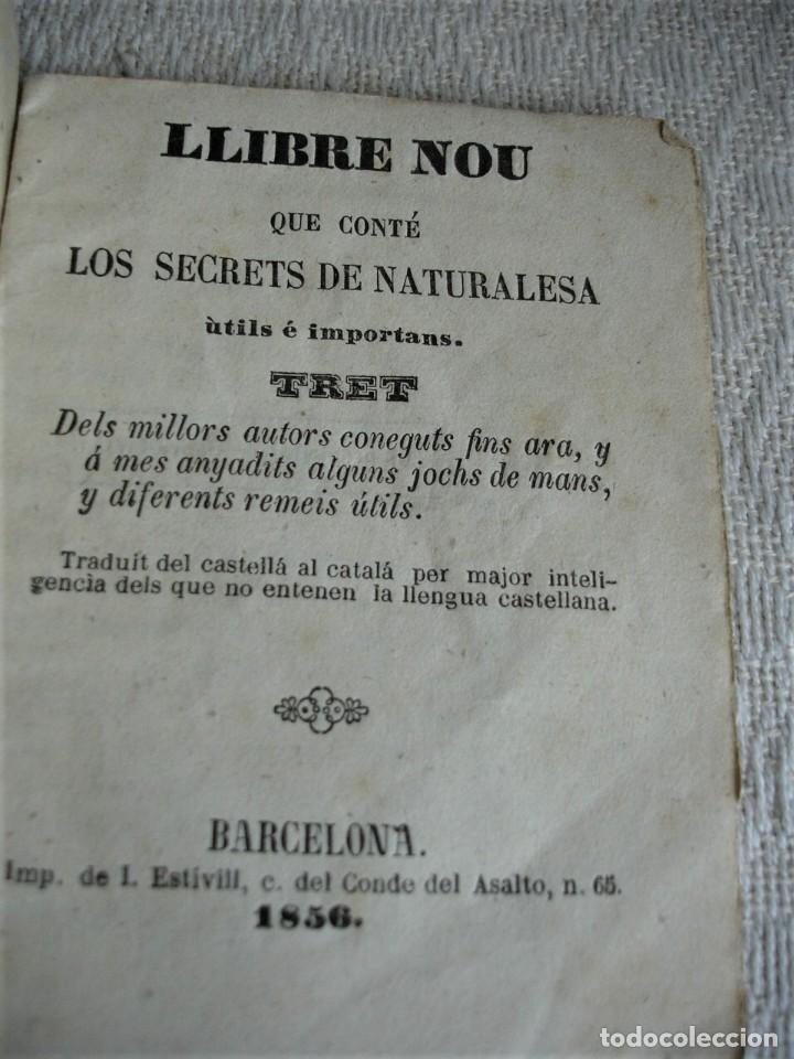 LLIBRE NOU QUE CONTÉ LOS SECRETS DE NATURALEZA 1856 (Libros Antiguos, Raros y Curiosos - Ciencias, Manuales y Oficios - Medicina, Farmacia y Salud)