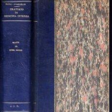 Libros antiguos: MOHR (E) STAEHELIN. TRATTATO DI MEDICINA INTERNA. V: MALATTIE DEL SISTEMA NERVOSO. 1914.. Lote 244421775