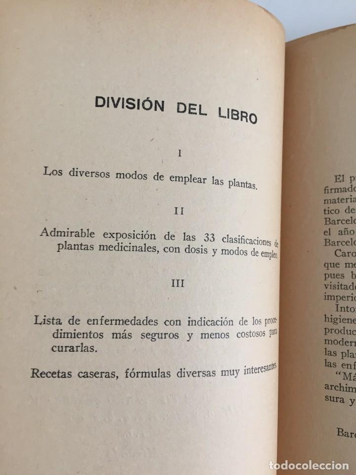 Libros antiguos: ESTRELLA DEL HOGAR. ILUSTRADA. MANUAL PRÁCTICO DE PLANTAS MEDICINALES. WIFREDO BOUÉ. 3000 RECETAS. - Foto 8 - 245359020