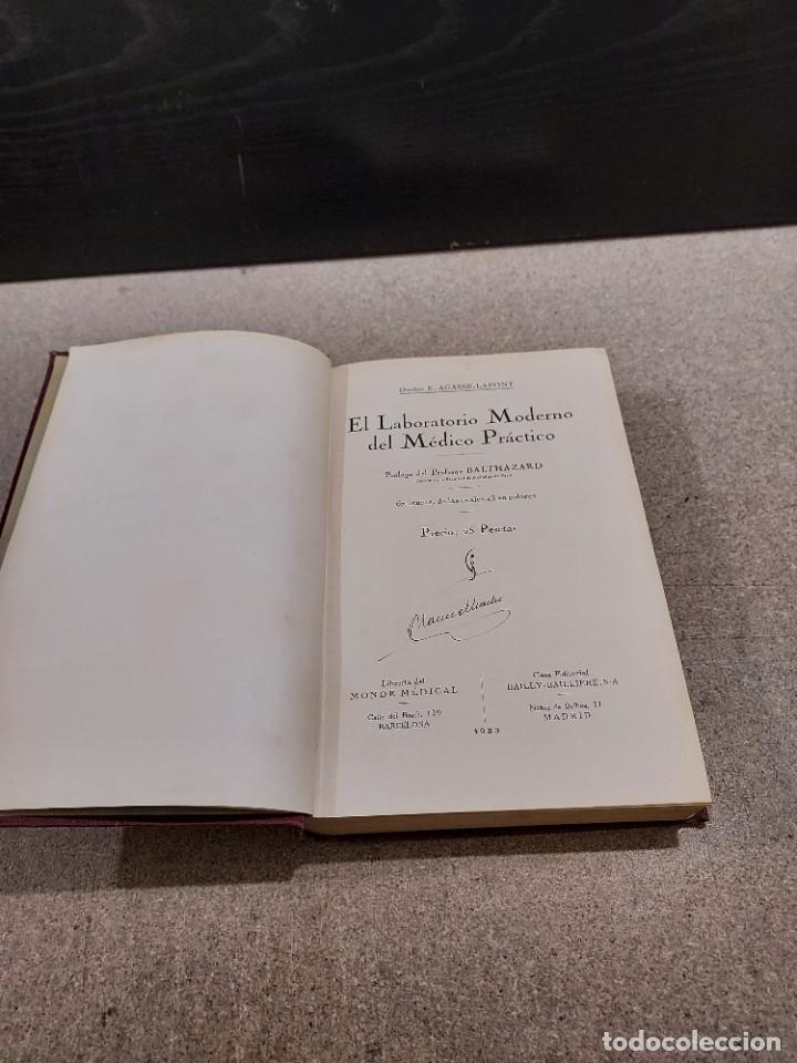 Libros antiguos: MEDICINA....EL LABORATORIO MODERNO DEL MÉDICO PRÁCTICO.....1933. - Foto 3 - 245388395