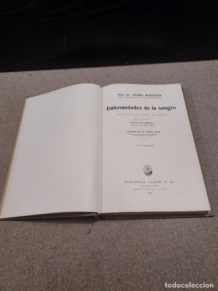 Libros antiguos: MEDICINA....ENFERMEDADES DE LA SANGRE....G.ROSENOW...1927....... - Foto 3 - 245436995