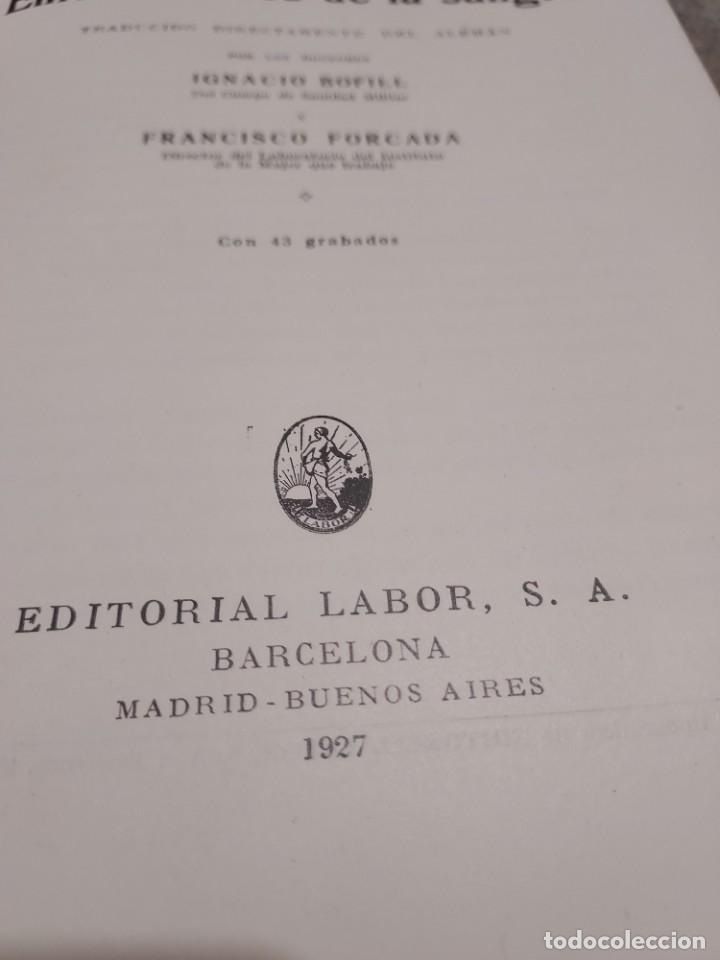 Libros antiguos: MEDICINA....ENFERMEDADES DE LA SANGRE....G.ROSENOW...1927....... - Foto 4 - 245436995