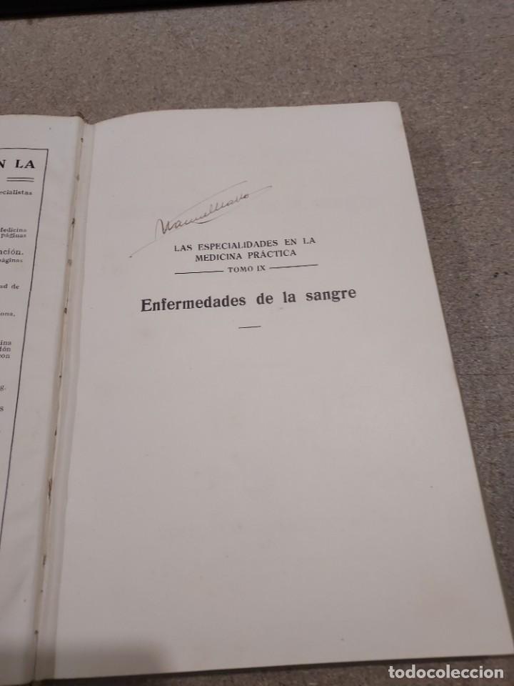 Libros antiguos: MEDICINA....ENFERMEDADES DE LA SANGRE....G.ROSENOW...1927....... - Foto 12 - 245436995