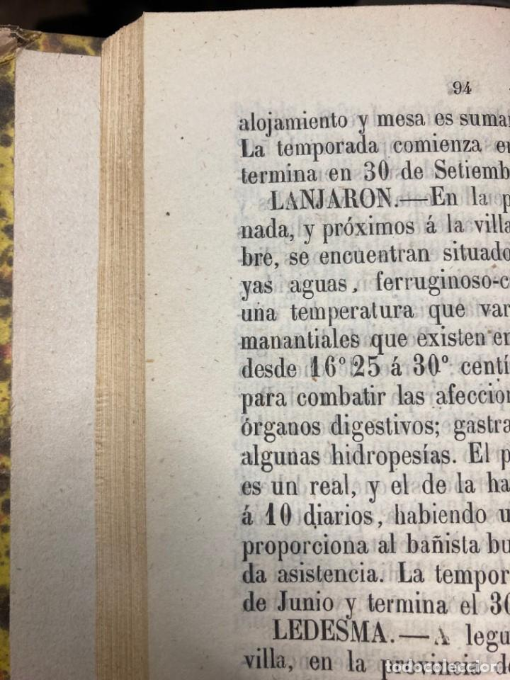 Libros antiguos: AÑO 1873 - GUÍA-MANUAL de Baños y Aguas minerales destinada al servicio del público. - Foto 3 - 245437485