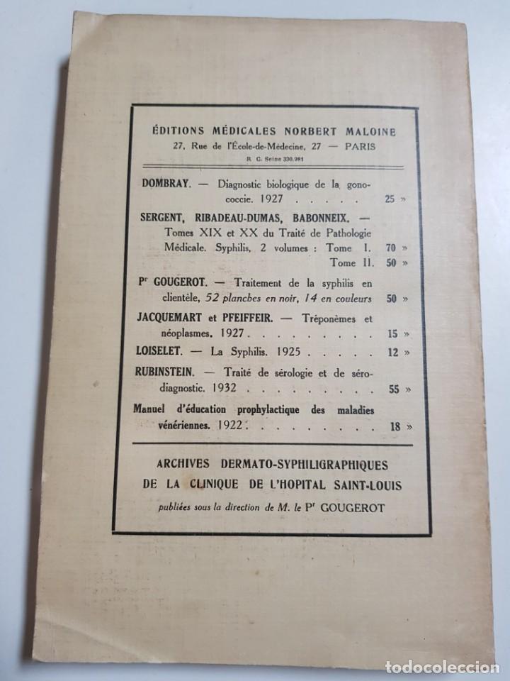 Libros antiguos: LA BLENNORRAGIE. PIERRE BARBELLION. EDITIONS MEDICALES. 1934 - Foto 2 - 246489245
