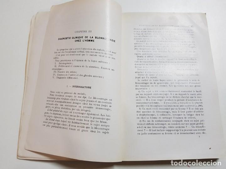 Libros antiguos: LA BLENNORRAGIE. PIERRE BARBELLION. EDITIONS MEDICALES. 1934 - Foto 7 - 246489245