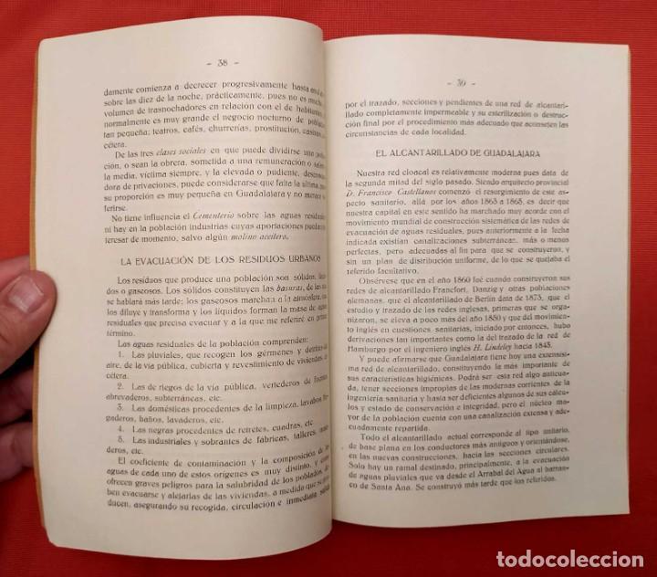 Libros antiguos: AGUAS RESIDUALES DE GUADALAJARA. ESPAÑA. AÑO: 1927. BUEN ESTADO. - Foto 3 - 246541830