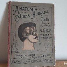 Libros antiguos: LIBRO TROQUELADO ANATOMÍA DE LA CABEZA HUMANA Y DEL CUELLO.. Lote 246594130