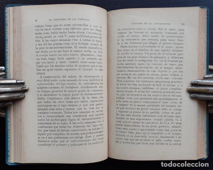 Libros antiguos: 1904 - Medicina, Salud - El Consejero de las Familias. Guía de Sanos y Enfermos - Sebastián Kneipp - Foto 7 - 263229550