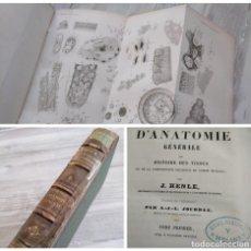 Livres anciens: RARO: TRATADO DE ANATOMÍA GENERAL (1843) - EJEMPLAR QUE PERTENECIÓ AL DR. RAFAEL MARTÍNEZ MOLINA. Lote 249368980