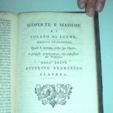 Libros antiguos: HIDROTERAPIA - 5 RARÍSIMAS OBRAS. SIGLO XVIII. J. FRANCISCO CLAVERA NATURAL DE CAPELLA (HUESCA). Lote 251997865