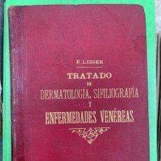 Libros antiguos: TRATADO DE ENFERMEDADES DE LA PIEL Y VENÉREAS. Lote 253098300