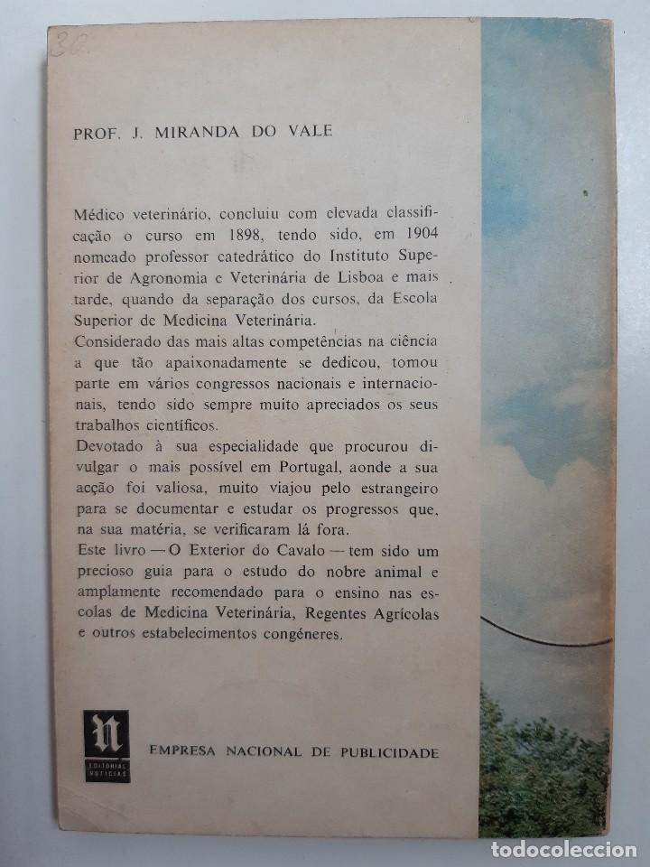 Libros antiguos: O EXTERIOR DO CAVALO Jose Miranda Do Vale Medicina Veterinaria Caballo 1966 - Foto 3 - 253899555