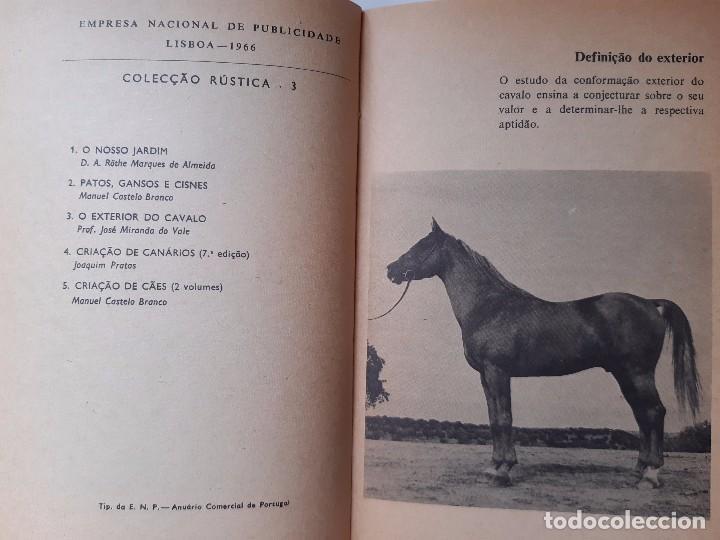 Libros antiguos: O EXTERIOR DO CAVALO Jose Miranda Do Vale Medicina Veterinaria Caballo 1966 - Foto 10 - 253899555